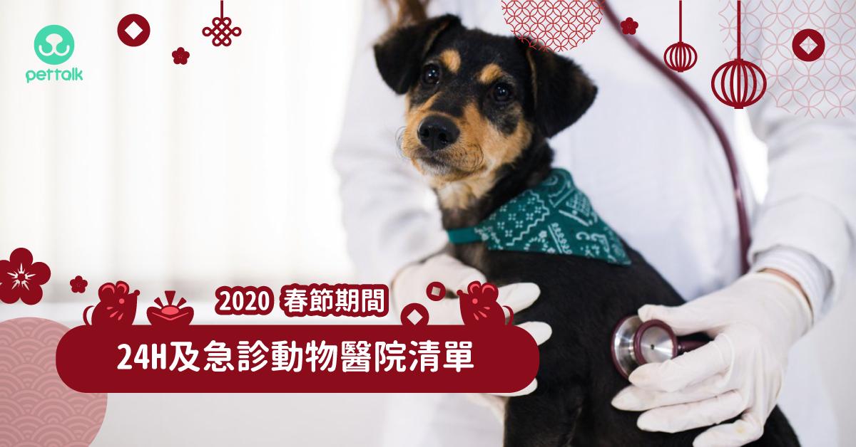 【毛爸媽必收】2020春節期間24H及急診動物醫院清單