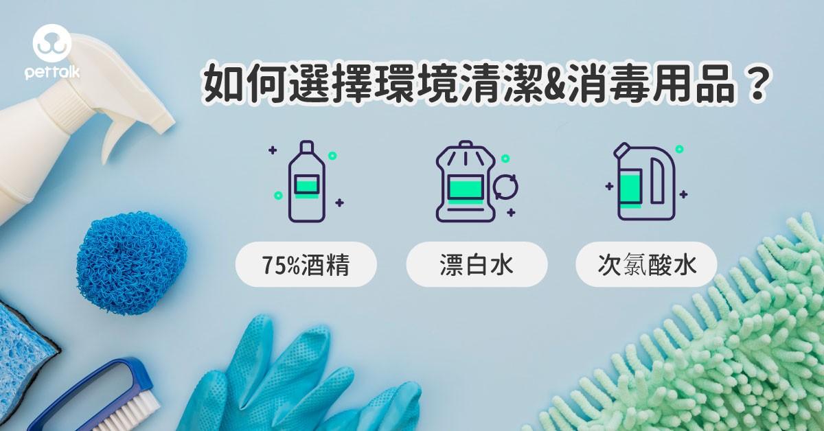 家中有寵物,如何安心選擇環境清潔及消毒用品?|專業獸醫—王小玲